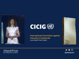 CICIG recibe mención honorífica en prestigioso premio por su trabajo contra la impunidad