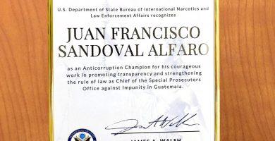 Sandoval como campeón anticorrupción
