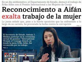 """Jueza Erika Aifán es reconocida con el premio """"mujer coraje"""""""
