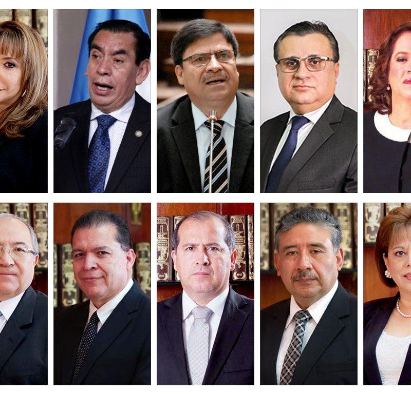 Antejuicio contra 10 magistrados