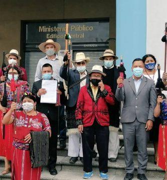 Autoridades indígenas presentan denuncia penal ante el MP