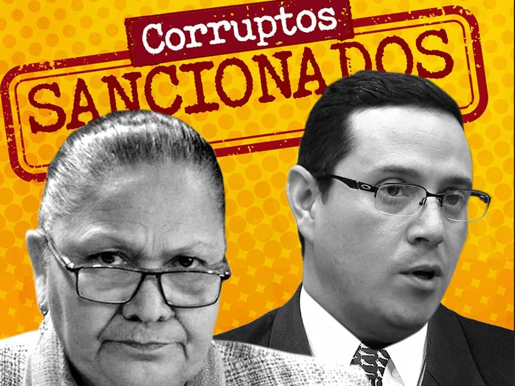 Sancionan a Consuelo Porras y Angel Pineda